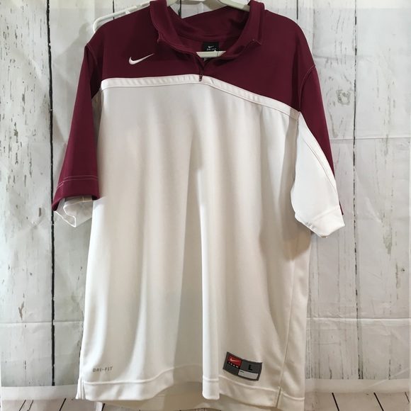 6e4c506ee Nike Shirts | Mens Large Team Dri Fit Short Slv Zip Pull | Poshmark